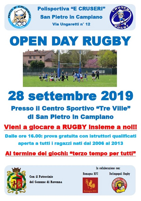 open day rugby 28 settembre